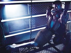 Charlize Theron & Michael Fassbender: Smash of the Titans - W by Mario Sorrenti, August 2012