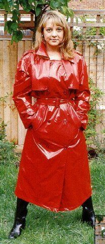 Red Weathervain PVC Raincoat