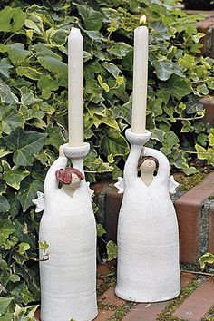 Engel Elfriede Paper Mache Clay, Clay Art, Ceramics Projects, Clay Projects, Ceramic Figures, Ceramic Art, Diy Angel Wings, Pottery Angels, Clay Angel