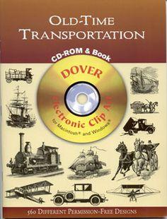 Old Time Transportation CD-ROM & Book Clip Art