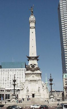 Soldiers and Sailors Monument:    Recognized as one of the world's outstanding monuments, the structure has come to symbolize both the City of Indianapolis and the state of Indiana. The Limestone used for the monument is gray oolitic limestone from the Romona quarries of Owen County