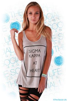 Sigma Kappa at heart. The softest tank you could ever hope for with a fashionable flowy fit. My #TSL Dream Recruitment Closet