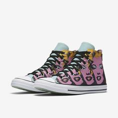 Converse Chuck Taylor All Star Andy Warhol Marilyn Monroe High Top Unisex Shoe