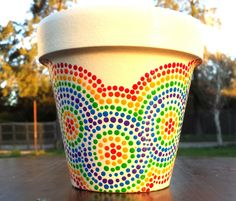 Guarda Multicolor. Macetas pintadas a mano. Facebook: A'cha Pots. achapots@hotmail.com