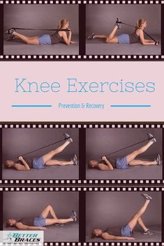 to Help You Recover From Pain. Knee Pain Relief Exercises: to Help You Recover From Acl Knee, Knee Injury, Pilates, Acl Recovery, K Tape, Knee Strengthening Exercises, How To Strengthen Knees, Fitness Motivation, Knee Pain Relief