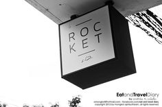 Rocket Coffeebar, #Bangkok, #Thailand CrazyBangkok.com by TheCrazyCities.com Store Signage, Signage Display, Signage Design, Logo Design, Coffee Bean Shop, Tea Logo, Wayfinding Signs, Sign Company, Outdoor Signs