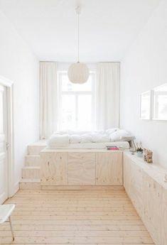 Ideas para ganar espacio en tu dormitorio; Camas sobre cajones y armarios.Cada día nuestros dormitorios son más pequeños y hay que ingeniárselas como podemos pa