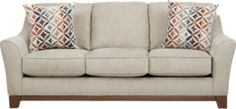 Savannah Bend Beige Sofa.499.0. 85W x 37D x 36H. Find affordable Sofas for your home that will complement the rest of your furniture. #iSofa #roomstogo