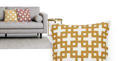 Adira Cushion 45 x 45cm, Yellow