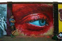 New Street Art by Sebastien Waknine in Selva da Mar, Barcelona