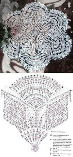Crochet Doily Patterns with Diagrams Crochet Doily Diagram, Crochet Doily Patterns, Crochet Mandala, Crochet Chart, Crochet Squares, Thread Crochet, Filet Crochet, Crochet Motif, Irish Crochet