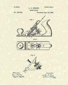 Bench Plane 1883 Patent Art #patentart