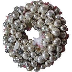 Check out this item at One Kings Lane! Rhinestone-Ornaments Wreath