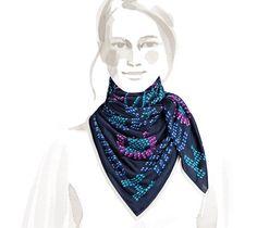 "Kelly en Perles Hermes silk jersey scarf, hand-rolled, 36"" x 36"""