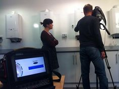Filming the equipment on offer at Highgate Hospital