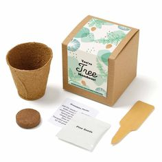 Encourage team members in a new way with this plant kit. Start your plant in the provided pot then plant (pot included) in soil when seedlings start to sprout! Kit includes everything you need to grow wildflowers! Spices Packaging, Seed Packaging, Coffee Packaging, Toy Packaging, Vegetable Boxes, Seed Shop, Plant Box, Grow Kit, Guest Gifts