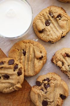 Grain-free Peanut Butter Chocolate Chip Cookies - dinner with Julie