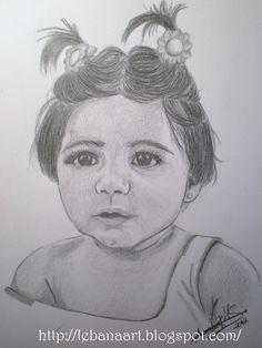 Retrato niña a grafito