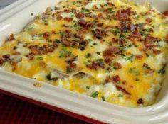 JAMIE'S LOADED CAULIFLOWER #mushrooms #cauliflower #cheesy #creamy #justapinchrecipes