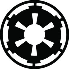 The Imperial Seal; the symbol of the Galactic Empire from Star Wars. Star Wars Logos, Star Wars Tattoo, Simbolos Star Wars, Nave Star Wars, Star Tattoos, Tribal Tattoos, Tattoos Skull, Black Tattoos, Imperial Logo