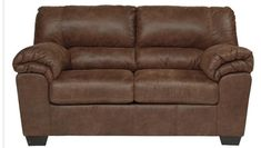 Signature Design by Ashley - Bladen Contemporary Plush Upholstered Loveseat, Coffee Brown Ashley Furniture Sofas, Oversized Ottoman, 3 Piece Sectional, Leather Loveseat, Modern Rustic Interiors, Signature Design, Seat Cushions, Love Seat, Upholstery