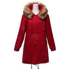 54f45ac21417 2017 women winter thicken warm coat female autumn hooded cotton fur plus  size basic jacket outerwear slim long ladies chaqueta