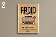 Retro Radio Party Flyer by Guuver on @creativemarket