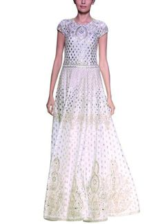 Anita Dongre's timeless luxurious white gown, available at strandofsilk.com, is a testament to the variety and craftsmanship prevalent in India. With a modern flattering silhouette, the indigenous intricate gota pati embroidery perfectly encompasses an ethnic yet contemporary look #anitadongre #silhouette #white #gown #dress #gotapatti #gota #embroidery #ethnic #contemporary