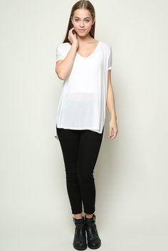 Brandy ♥ Melville   Milan Top - Tees - Tops - Clothing - White.