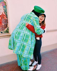 i'm a happy camper because goofy gave me the biggest hug   #NikkiGoesToDisney #GirlMeetsDCP #Disneyland #Goofy #UnforgettableCast #DisneySide #FeatureMeDLRCP #DLRCPSpring16 by dazzlingdazing
