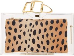 Charlotte Olympia Clear Perspex Linked Pandora Clutch