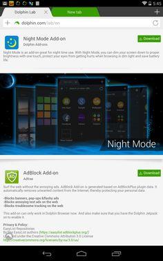 Night Mode, keep your eyes safe when you browse in the night Modo nocturno, cuide sus ojos cuando navega en la noche