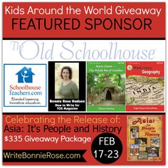 We are thrilled to partner with The Old Schoolhouse Magazine -- another of the awesome sponsors of our Kids Around the World Giveaway!   Did y'all know that Bonnie Rose is a Schoolhouse Teacher?   Visit their website here ---> http://theoldschoolhouse.com/ Visit SchoolhouseTeachers.com here ---> http://schoolhouseteachers.com/ To enter our $335 giveaway, go here ---> http://writebonnierose.com/asia-its-people-and-history-giveaway/  #homeschool