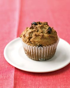 Raisin Bran Muffins   Martha Stewart Living - Stir up this batch of hearty, low-fat morning treats. Kissed with brown sugar, they're moist and taste more indulgent than they are.