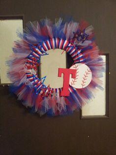 Texas Rangers Tulle Wreath