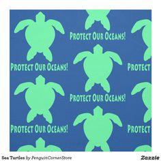 Sea Turtles Fabric