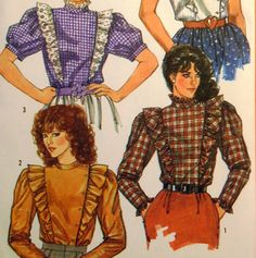 Vintage Sewing Pattern 1980s Prairie Blouse by ThePatternVixen, $8.00