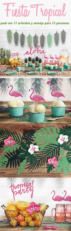 Unicorn theme birthday party for 2 little princesses. Flamingo Party, Flamingo Birthday, Luau Birthday, 30th Birthday Parties, Aloha Party, Party Fiesta, Luau Party, Diy Party, Party Ideas