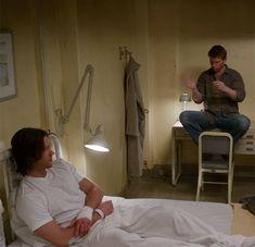 "[GIF] 7x17 The Born-Again Identity.. ""That awkward moment when Satan won't leave you alone."""
