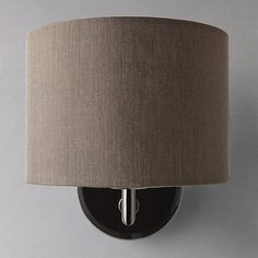 Jack wall light slate wall lights john lewis and wall lighting buy john lewis presley wall light with shade black online at johnlewis aloadofball Choice Image