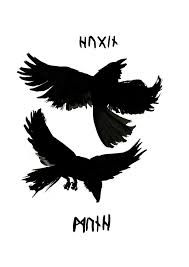 Image result for two ravens norse stencil
