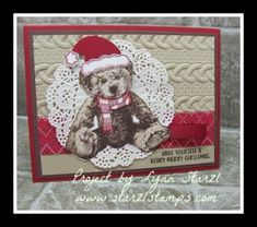 Cookie Cutter Christmas stamp set, Jolly Friends stamp set bundle, Baby Bear…