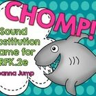 CHOMP! Sound Substitution Game FREEBIE Common Core Aligned - Your littles will have fun while practicing reading simple CVC words.