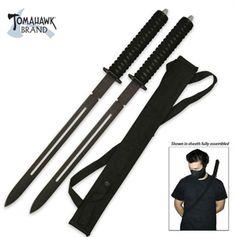 Full Tang Twin Ninja Swords For Sale | All Ninja Gear: Largest Selection of Ninja Weapons | Throwing Stars | Nunchucks