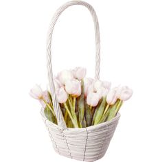 NLD Basket with Flowers.png ❤ liked on Polyvore featuring flowers