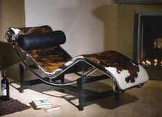 Chaise longue à réglage continu Le Corbusier