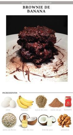 Fit Chef: Brownie de banana   CAROL BUFFARA