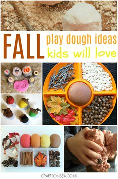 Get inspired with these Autumn and Fall Play Dough ideas, perfect for sensory play and fun with kids with playdough recipes, activities and playdough mats.
