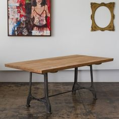 CG Sparks Teak Metal Dining Table in Natural - o1516180003