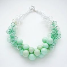 https://flic.kr/p/q1Zf3G | Necklace Mint | Necklace is made with glass blowed beads.